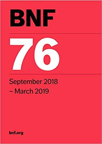 دانلود کتاب فارماکولوژی انگلستان BNF 76 2018-2019