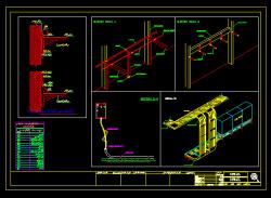 دانلود نقشه اتوکد دیتایل و جزییات اجرایی سینی و نردبان گزاری تاسیسات برقی
